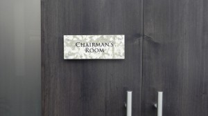 Chairman Room Sign