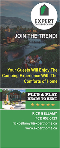 Expert Creekside Cabins Ad